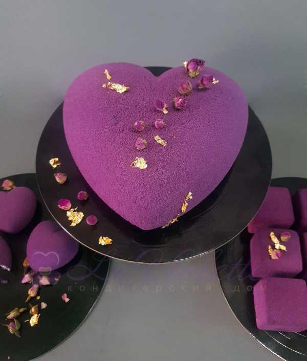 Муссовый торт Сердце №889