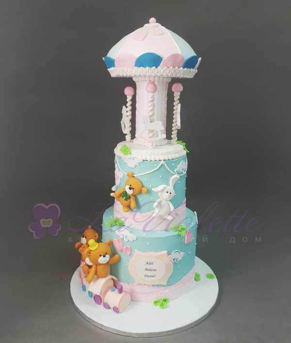 Торт с мишками №909
