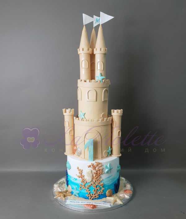 Торт Замок из песка №913
