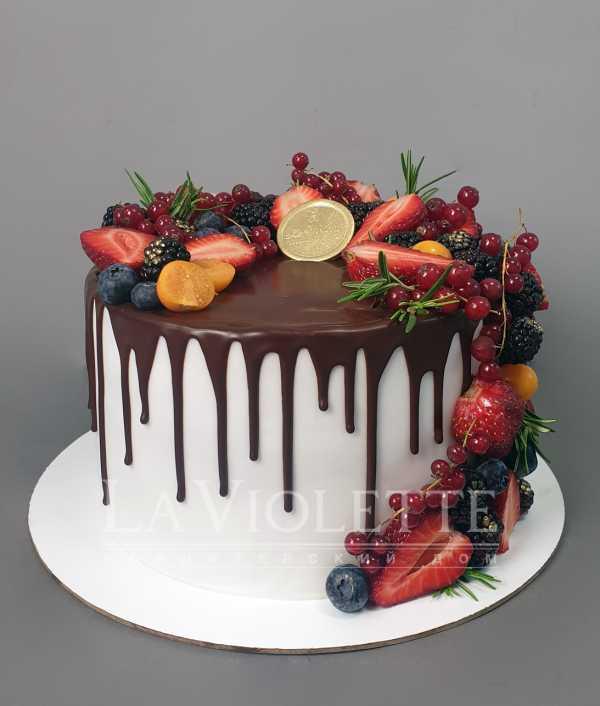 Торт с ягодами №930