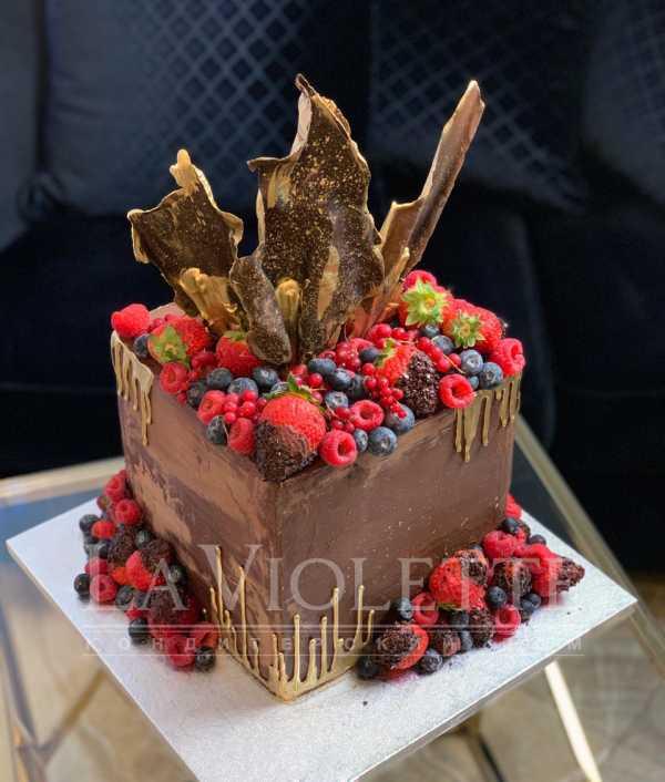 Торт с ягодами №937