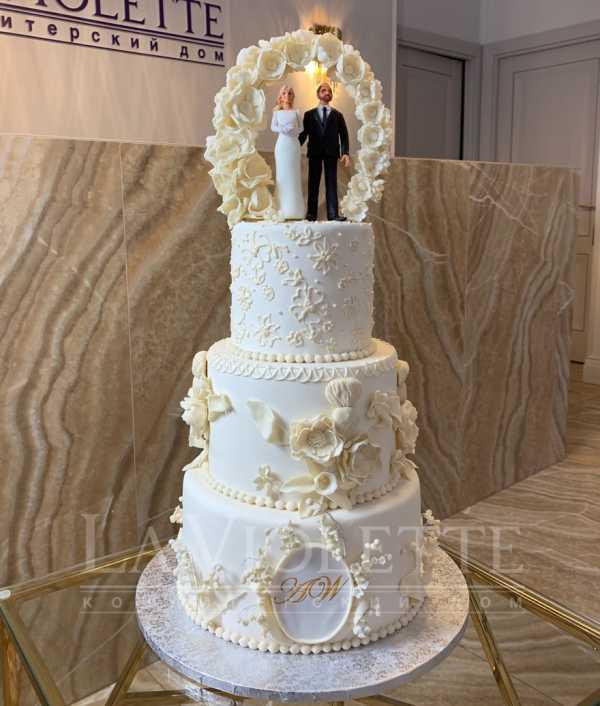 Торт свадебный №945