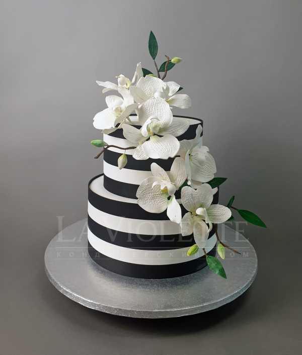 Торт с орхидеями №952