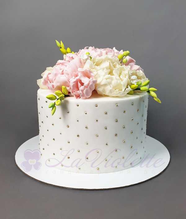 Торт с пионами №953