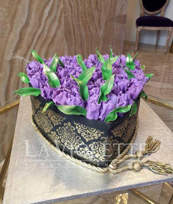 Торт с тюльпанами №954