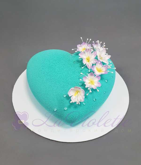 Муссовый торт Сердце №958