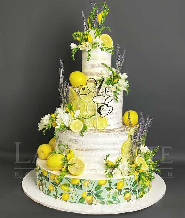 Торт с лимонами №1189