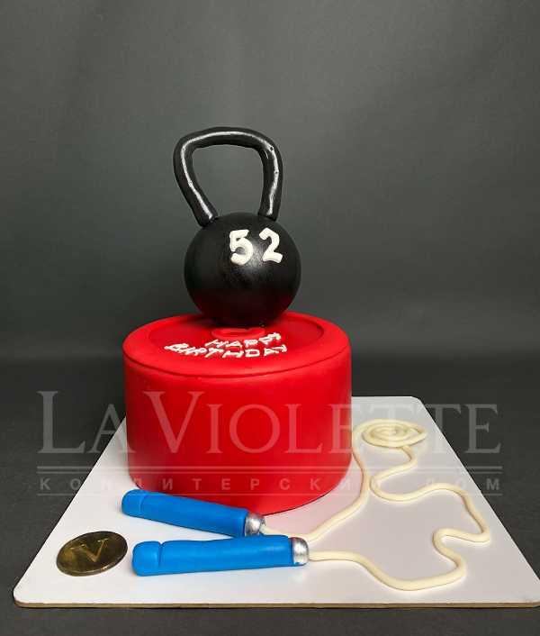 Торт с гирей №1147