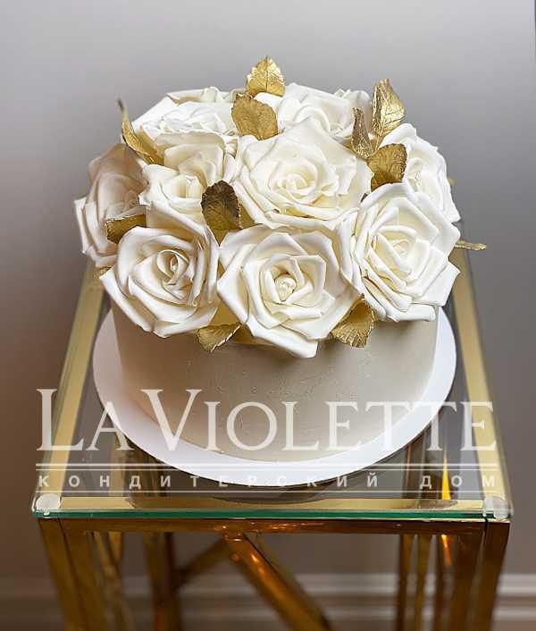Торт с розами №1146