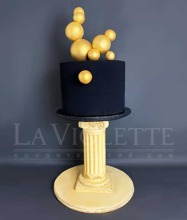 Торт с золотыми шарами №1177