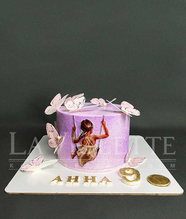 Торт с бабочками №1153