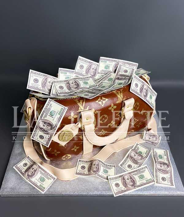 Торт Сумка с деньгами №1191
