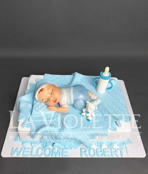 Торт для новорожденного №1166