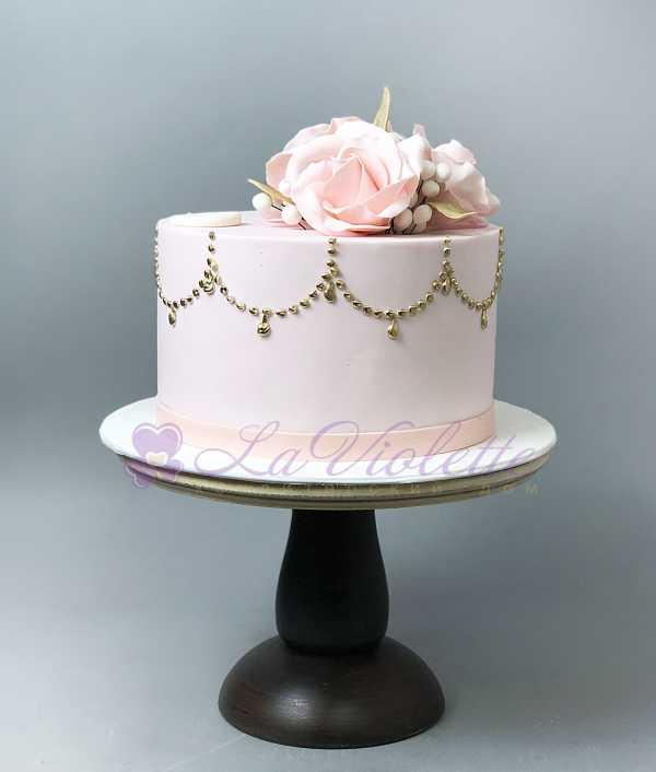 Торт с цветами №519