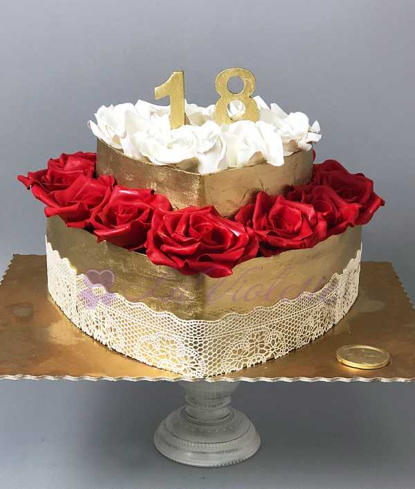 Торт сердце №581