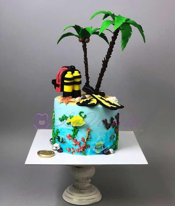 Торт для дайвера №587