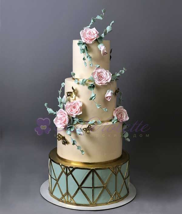 Торт с розами №706