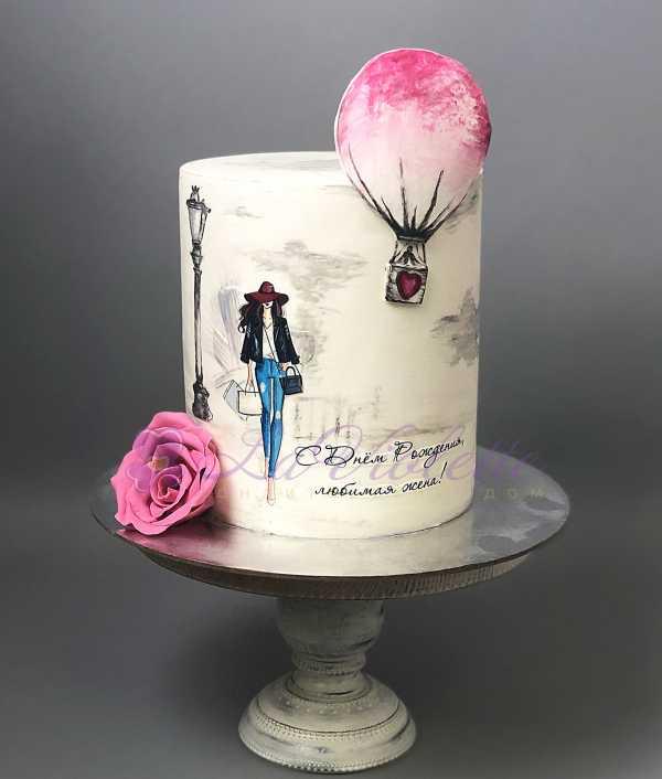Торт с леди №754